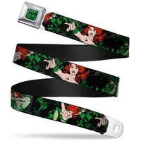 Poison Ivy Script Leaves Full Color Greens Black Dc Originals Poison Ivy 3 Seatbelt Belt