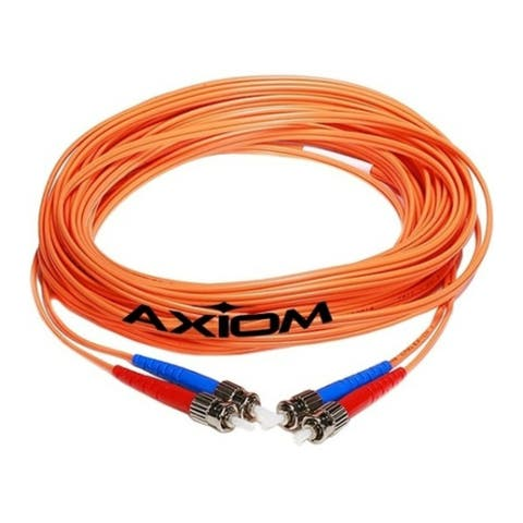 Axion STSTMD6O-15M-AX Axiom Fiber Cable 15m - Fiber Optic for Network Device - 49.21 ft - 2 x ST Male Network - 2 x ST Male