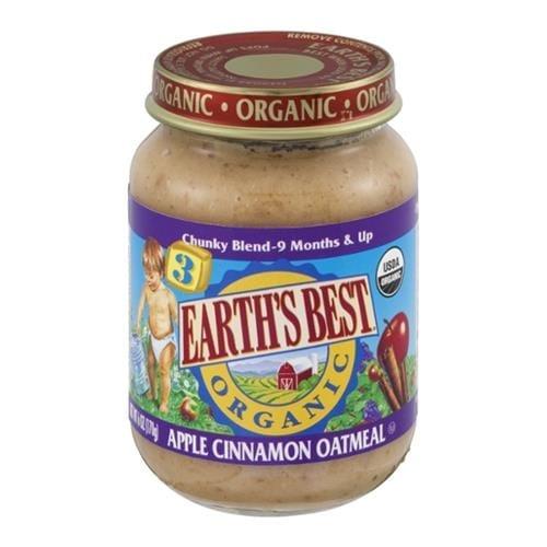 Earth's Best - Organic Junior Apple Cinnamon Oatmeal ( 12 - 6 OZ)