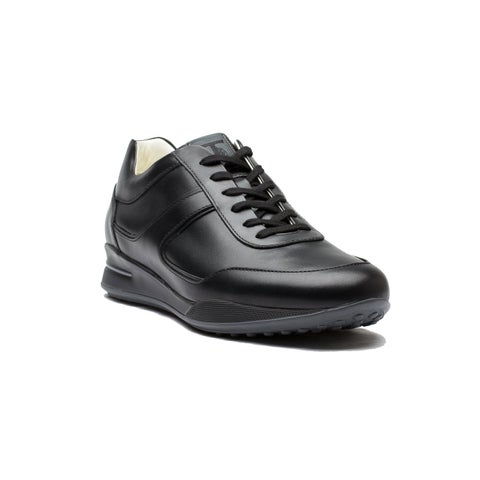 Tod's Men's Leather Allacciato Sport T Project Low Top Sneakers Shoes Black