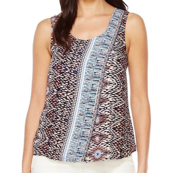 bc3a6da6db27 Shop Nic + Zoe Brown Women Size Small S Casa Blanca Print Tank Cami Top -  Free Shipping On Orders Over  45 - Overstock.com - 21488856