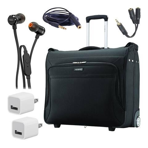 Samsonite Ascella X Softside Luggage, Black, Garment Storage Bag