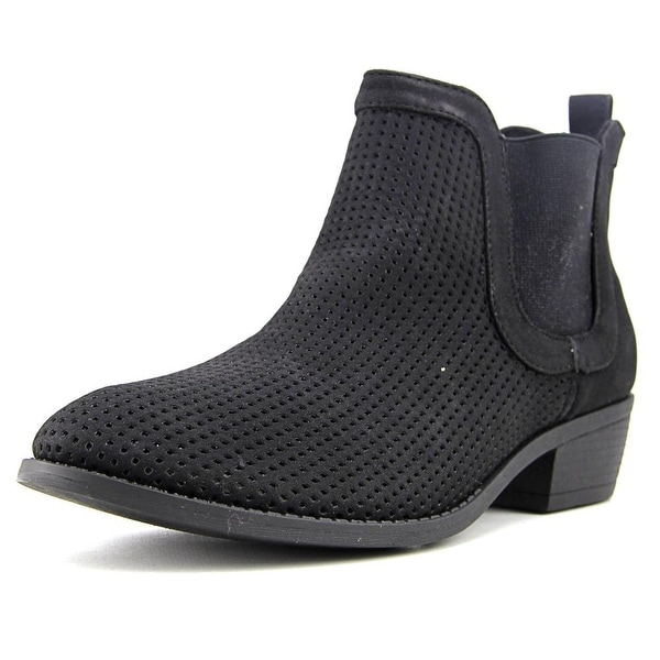 Shop Restricted Nola Women Round Toe Synthetic Black Ankle Boot ... 7c7676eec8