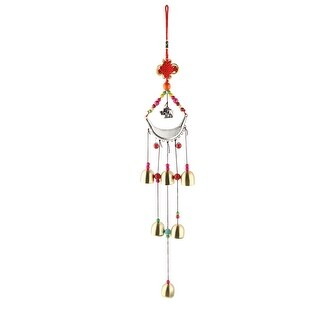 Unique Bargains Home Bedroom Birthday Gift Chinese Knot 6 Bells Hanging Wind Bell Chime Windbell