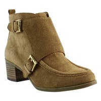 Anne Klein Womens 25021483 Natural Ankle Boots Size 6.5