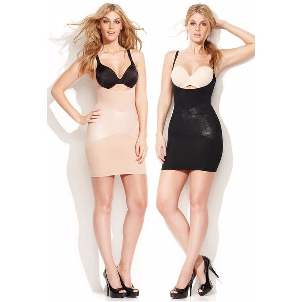 9402b0ead7 Shop Star Power by SPANX Firm Control Lady Luxe Open-Bust Full Slip 2358  Shapewear - Free Shipping On Orders Over  45 - Overstock - 16807800