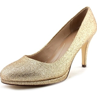 Style & Co Nikolete Women Round Toe Synthetic Gold Heels