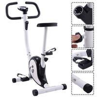 Goplus Exercise Bike Stationary Cycling Fitness Cardio Aerobic Equipment Gym Black