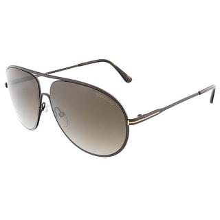 Tom Ford FT0450/S 49K CLIFF Bronze Aviator sunglasses