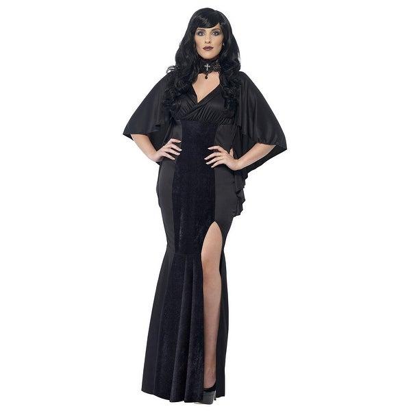 910d095470 Plus Size Gothic Vamp Costume - Black