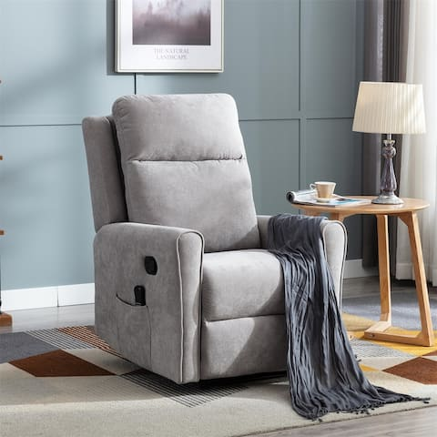 Merax Manual Recliner Chair with Heat and Rolling Kneading Massage
