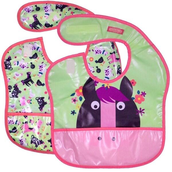 Farm Girl Western Bib Girls Horse 2 Pc Set OS Mint Green