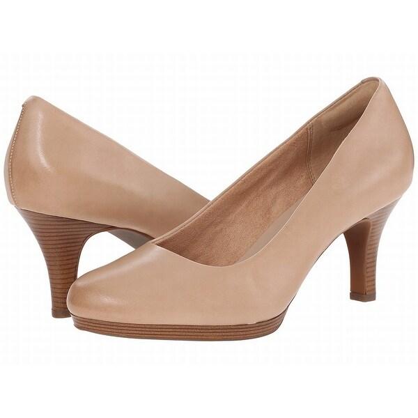 Clarks NEW Beige Shoes Size 10M Pumps Classics Leather Heels