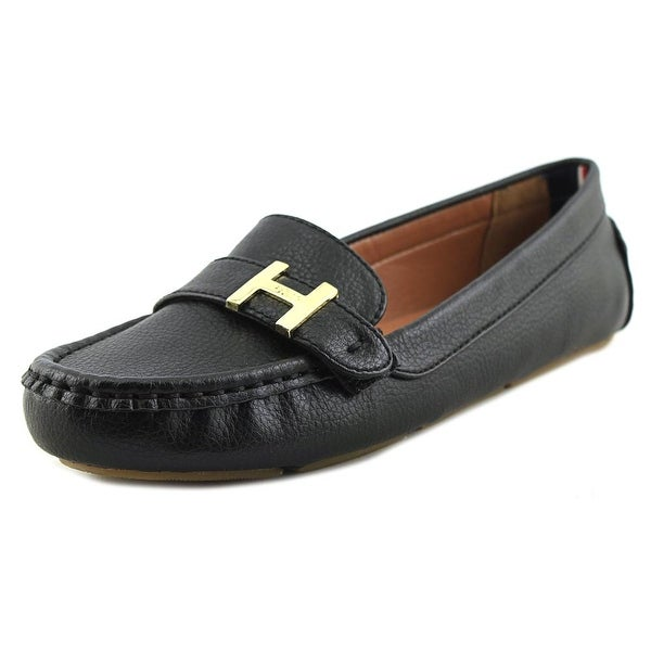 d80ae896b563c4 Shop Tommy Hilfiger ZAIN Women Round Toe Synthetic Black Loafer ...