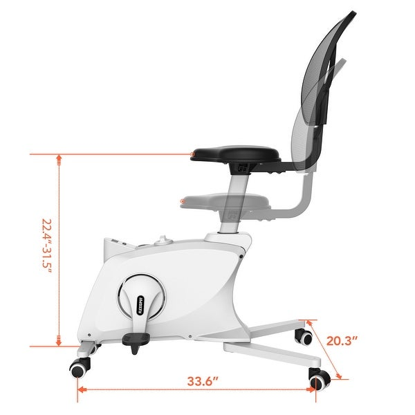 FlexiSpot Adjustable Exercise Chair Sit2Go 2-in-1 Fitness Chair Desk Bike Home Office Chair Cycle Exercise Bike