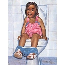 ''I'm a Big Girl Now'' by Hulis Mavruk African American Art Print (16 x 12 in.)