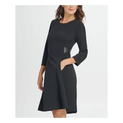 DKNY Black Long Sleeve Above The Knee Dress 16