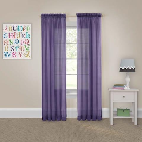 Pairs to Go Victoria Voile Curtain Panel Pair - 118x95