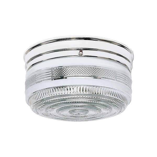 """Nuvo Lighting 77/102 2 Light 10"""" Wide Flush Mount Ceiling Fixture - Polished chrome"""