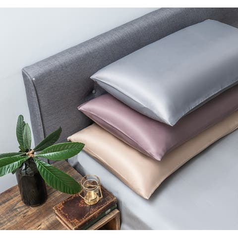 100% Pure Mulberry Silk Pillowcases - 2 Pack