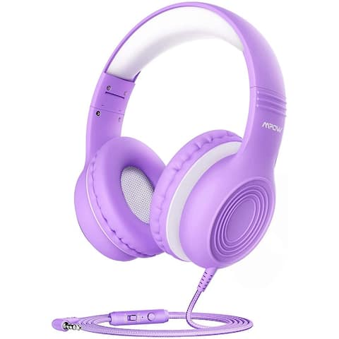 Mpow CH6S Kids Over-Ear Headphones with MicHD Sound Sharing Function, Volume Limit Safe Headset for School, Travel