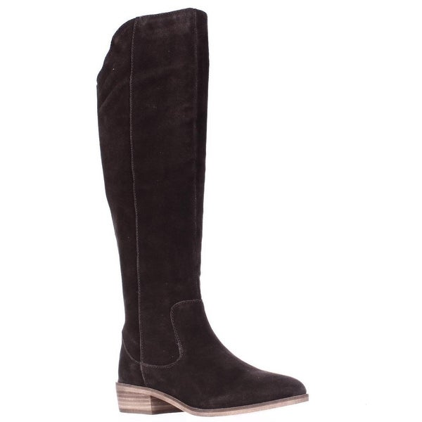 STEVEN by Steve Madden Emmery Tall Western Boots, Chocolate Brown
