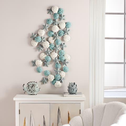 Porch & Den Starfish, Seashell, and Sand Dollar Metal Wall Sculpture