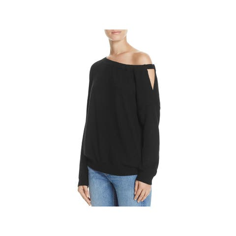 Vince Womens Pullover Sweater Cashmere Off-The-Shoulder