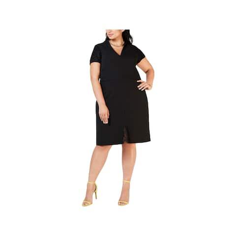 Betsey Johnson Womens Plus Sheath Dress Party V-Neck