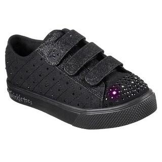 Skechers Girl's Twinkle Breeze 2.0 - Sneak Peek, Sneaker, Black (Option: 11.5)