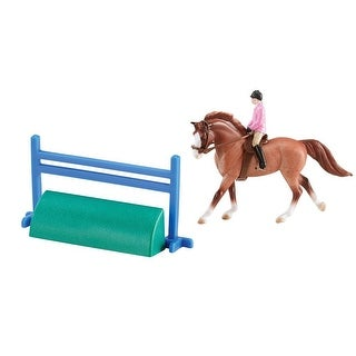 Breyer 1:32 Stablemates Model Horse and Rider: English, Red Rider & Red Roan - multi
