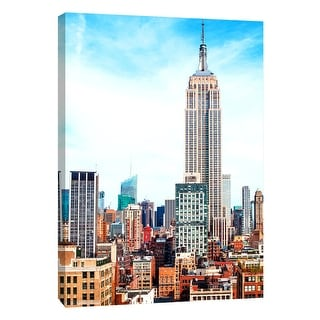 "PTM Images 9-108421  PTM Canvas Collection 10"" x 8"" - ""Empire State Building"" Giclee New York Art Print on Canvas"