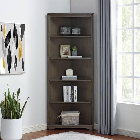 Furniture of America Marbella Transitional 5-shelf Corner Bookcase