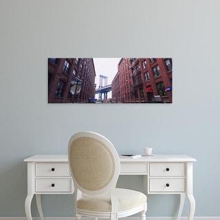 Easy Art Prints Panoramic Image 'Manhattan Bridge, Brooklyn, New York City, New York' Canvas Art