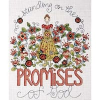 """Heartfelt Promises Counted Cross Stitch Kit-8""""X10"""" 14 Count"""