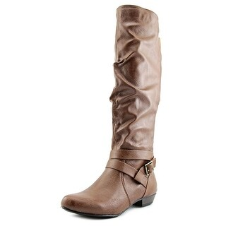Fergalicious Lara Wide Calf Women  Round Toe Synthetic Brown Knee High Boot