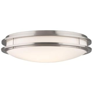 "Forecast Lighting F245836U 2 Light 24"" Wide Flush Mount Ceiling Fixture from the Cambridge Collection"