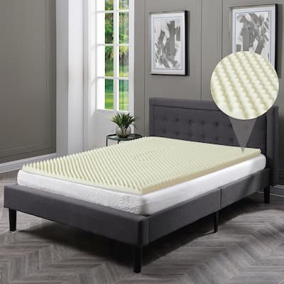 Onetan, High Density Convoluted Egg Shell Breathable Memory Foam Topper, Adds Comfort to Mattress