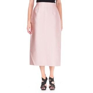 Barbara Casasola Womens Pencil Skirt Silk Hip Pockets