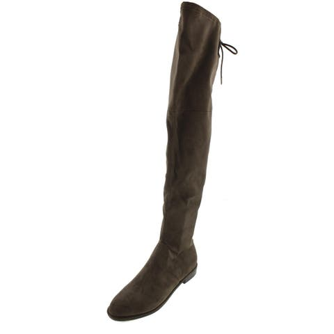 Marc Fisher Womens Humor2 Over-The-Knee Boots Embellished Pull On