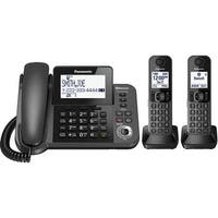 Panasonic KX-TGE433B Cordless Phone with Answering Machine - 3 Handsets (Refurbished)