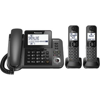 Panasonic KX-TGE433B Cordless Phone with Answering Machine - 3 Handsets (Refurbished)
