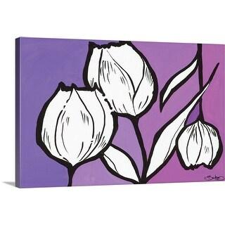 """""""Flowers in Unity - Purple"""" Canvas Wall Art"""