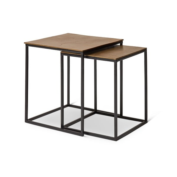 """Abner Nesting End Table - 18"""" x 18"""" x 18"""" Tall. Opens flyout."""