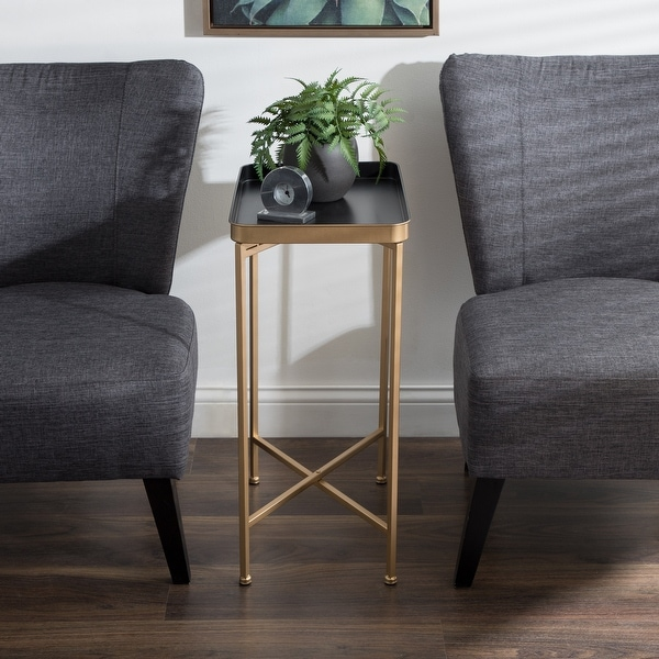 Kate and Laurel Celia Metal Tray Accent Table. Opens flyout.