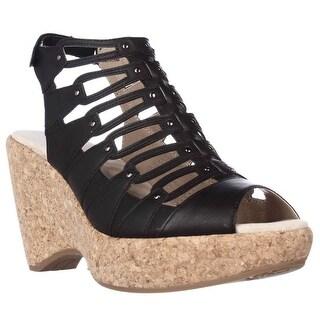 Jambu Lillian Strappy Wedge Sandals - Black