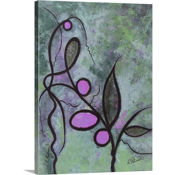 """""""Textured Curly Plant"""" Canvas Wall Art"""