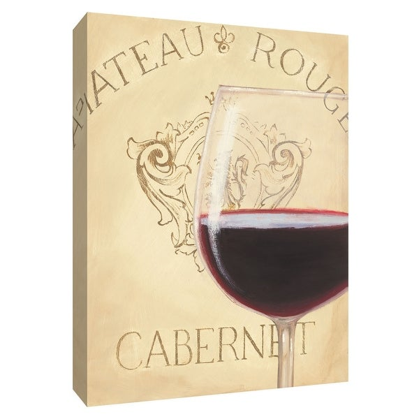 "PTM Images 9-154507 PTM Canvas Collection 10"" x 8"" - ""Chateau Nouveau Element IX"" Giclee Wine Art Print on Canvas"