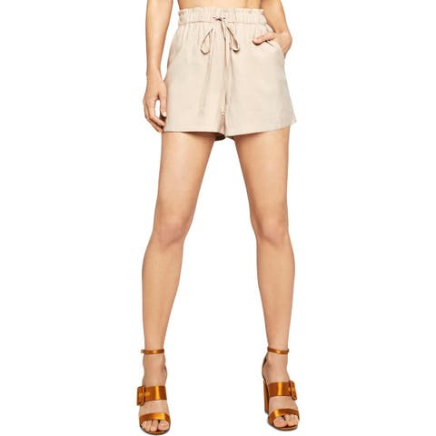 BCBGeneration Womens High-Waist Shorts Drawstring Paper Bag