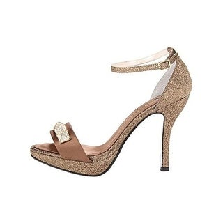 E! Live From The Red Carpet Womens Olivia Glitter Embellished Platform Heels - 9 medium (b,m)